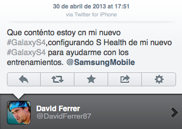 Celebrities who use the Apple iPhone - David Ferrer