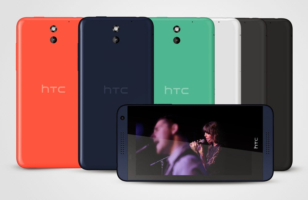 The HTC Desire 816 colour range