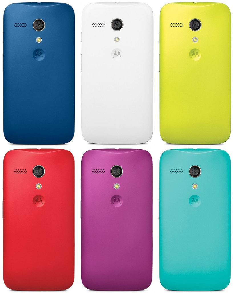 The Moto G is available in a who range of vibrant colours. So will the Moto E do the same?
