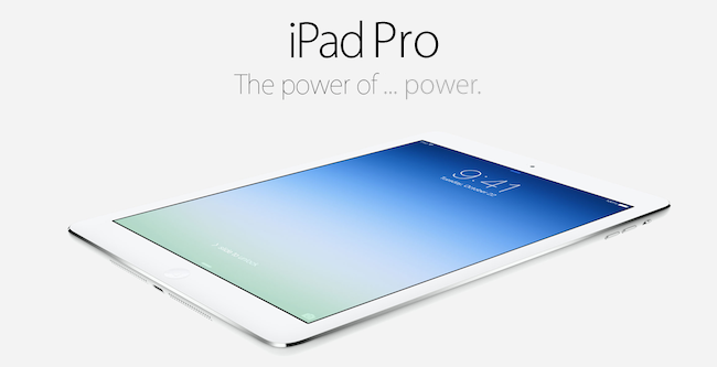 Concept image of the Apple iPad Pro