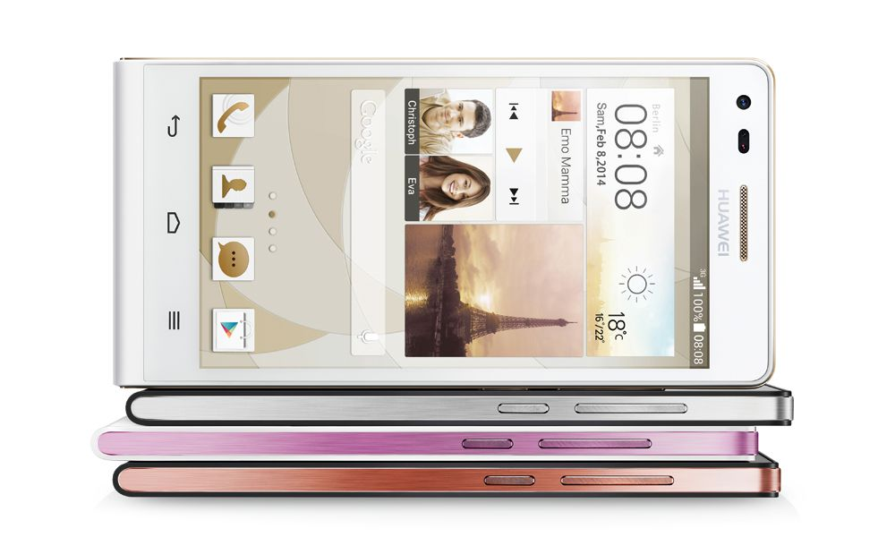 Huawei Ascend P7 landscape for video viewing