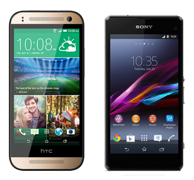 HTC One mini 2 vs Sony Xperia Z1 Compact