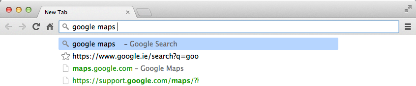 Have you compared you tablet to your address bar?