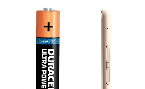 Is a AAA Battery thicker than an iPad?