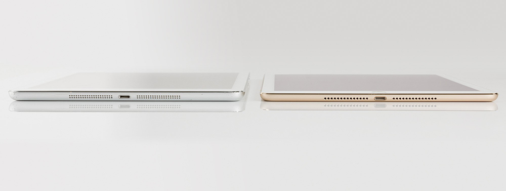 The iPad Air 2 is 1.4mm thinner than the iPad Air