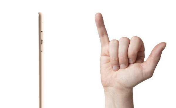 Is the iPad thinner than your pinky finger?
