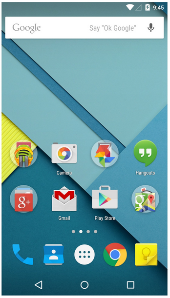 google android lollipop os
