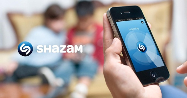 Shazam on an iphone