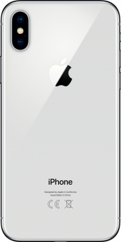 iPhone X 64GB Silver Refurbished (Back)