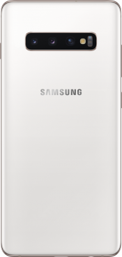 Galaxy S10+ 512GB Ceramic White (Back)