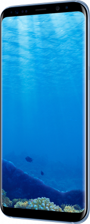 Galaxy S8 Plus Coral Blue (Side)