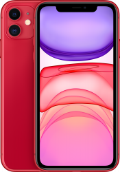 iPhone 11 64GB Product Red Refurbished (Front)