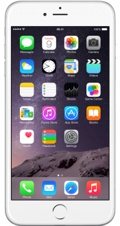 iPhone 6 Plus 128GB Silver (Front)
