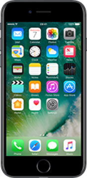 iPhone 7 128GB Jet Black Refurbished (Front)