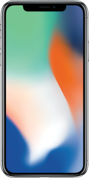 iPhone X 64GB Silver Refurbished (Front)