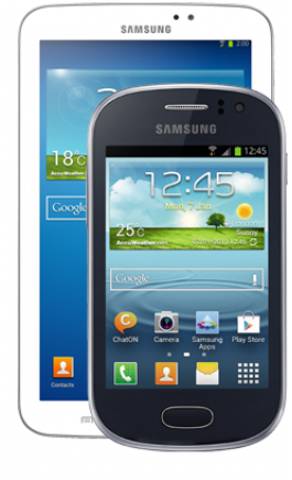 Samsung Galaxy Fame Blue and Galaxy Tab 3 7.0