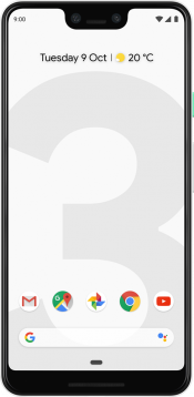 Pixel 3 XL 64GB Clearly White (Front)