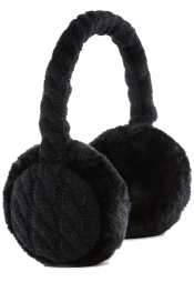 Audio Knitted Ear Muffs Black