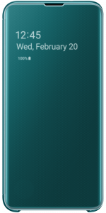 Clear View Cover S10 Plus Green