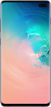Galaxy S10+ 128GB Prism White Refurbished (Front)