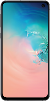 Galaxy S10e 128GB Prism Black Refurbished (Front)