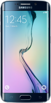 Galaxy S6 edge 64GB Black (Front)