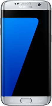 Galaxy S7 edge Silver (Front)