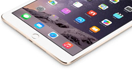 Apple iPad Air 2 white.