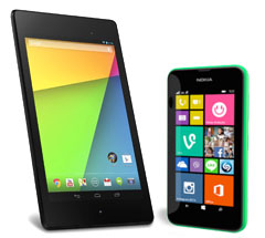 Tablet as a free gift with your phone contract