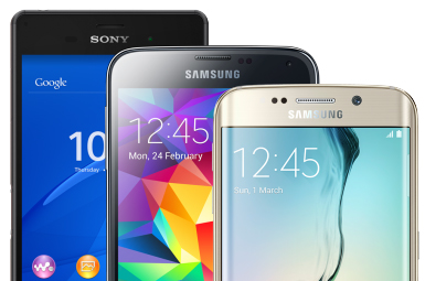 Samsung range from budget to top end smartphones