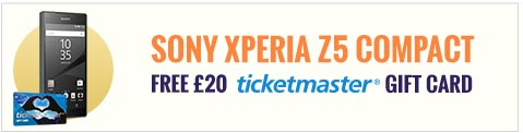 Sony Xperia Z5 Compact and Ticketmaster Gift Card