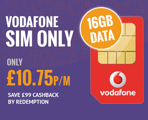 Vodafone 16GB Data Sim Only Deal